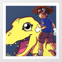 digimon Art Prints featuring Digimon by Viga Victoria Gadson
