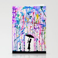 rain Stationery Cards featuring Deluge by Marc Allante