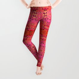 Pink Haze Bandana Ombre' Stripe Leggings