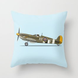 St Bernard flying his Spitfire - Dogs driving things Throw Pillow