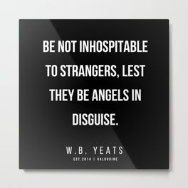 54   |200418| W.B. Yeats Quotes| W.B. Yeats Poems Metal Print