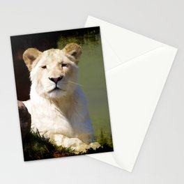 Noble Beast - Rare White Lion Stationery Cards