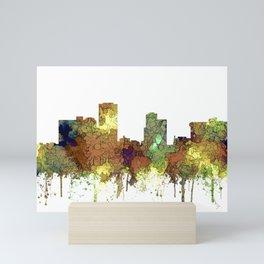 Little Rock, Arkansas Skyline - Safari Buff Mini Art Print