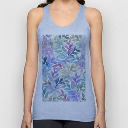 watercolor Botanical garden Unisex Tank Top