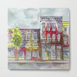 Red southwestern cityscape II Metal Print