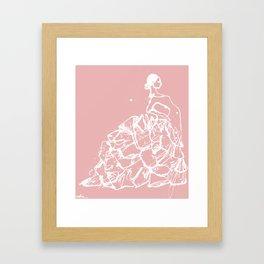flamenco skirt Framed Art Print