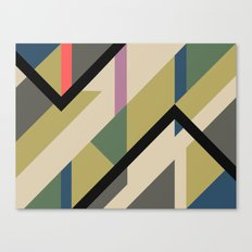 Modernist Dazzle Ship Camouflage Design Canvas Print