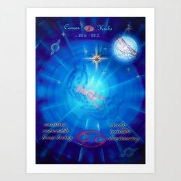 Moments - Full Moon - Zodiac sign Cancer Art Print