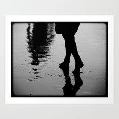 Wet Steps Art Print