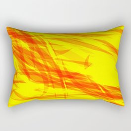 Gold and smooth sparkling lines of orange ribbons on the theme of space and abstraction. Rectangular Pillow