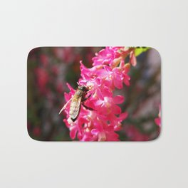 Bee2 and Blood Currant Ribes Sanguineum std Bath Mat