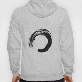 Zen Circle Black and White Print Hoody