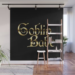 Labyrinth Goblin Babe (black bg) Wall Mural