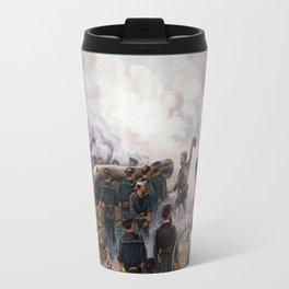 Civil War Naval Battle - Kearsarge And Alabama Travel Mug