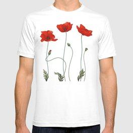 Poppy Stems T-shirt