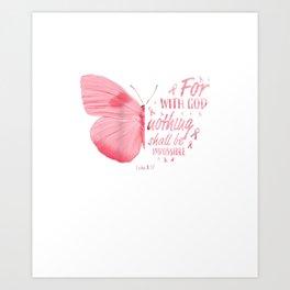 christian breast cancer survivor warrior women mama kids gift zip tee Art Print