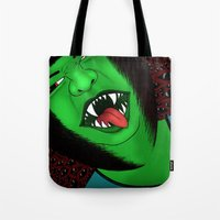 scream Tote Bags featuring Scream by Sabrina Kee