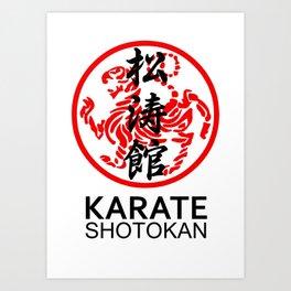 Shotokan Karate Symbol and Kanji Art Print