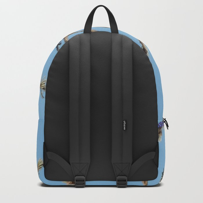 Cedar Waxwing Faces Sunset Backpack