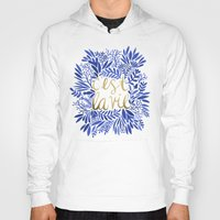 waldo Hoodies featuring That's Life – Gold & Blue by Cat Coquillette