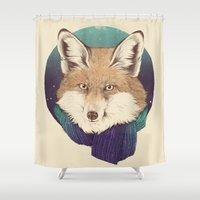 fox Shower Curtains featuring Fox by Laura Graves