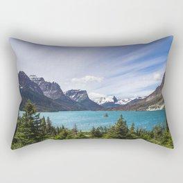 Half way down the lake Rectangular Pillow