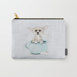 Chihuahua on toilet Carry-All Pouch