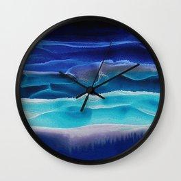Alcohol Ink Seascape 3 - Sea at Night Wall Clock