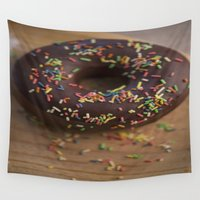 donut Wall Tapestries featuring Donut by LaiaDivolsPhotography