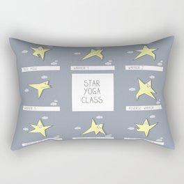 Star yoga class cartoon illustration of the asanas Rectangular Pillow