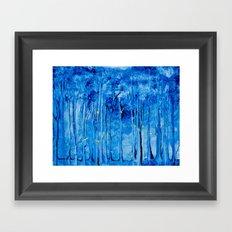 Lights in a Forest Framed Art Print