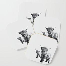 HIGHLAND COW - LULU & SARA Coaster