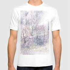 Snow in early fall(2). White Mens Fitted Tee MEDIUM