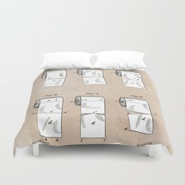 patent - Wheeler - Wrapping or Toilet paper roll - 1891 Duvet Cover
