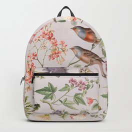 Violet and Rusty Pink Blooms Backpack