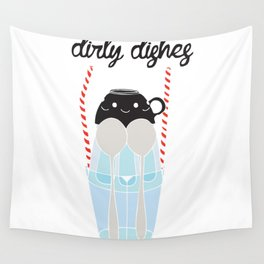 dirty dishes (girl) Wall Tapestry