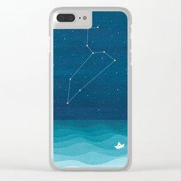 Leo zodiac constellation Clear iPhone Case