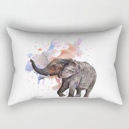 Dancing Elephant Painting Rectangular Pillow