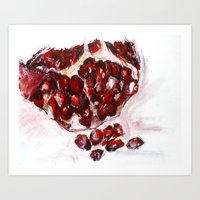 pomegranate Art Prints featuring Pomegranate by James Peart
