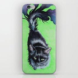 The Shadow Cat's Green Gaze iPhone Skin