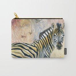 Zebra in Rainbow Savanna Carry-All Pouch