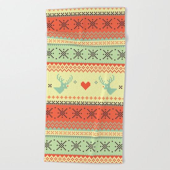 Holiday Pixels Beach Towel