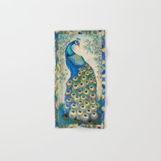 Blue Peacocks Hand & Bath Towel