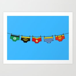 Superheroes real life Art Print