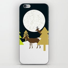 Deer on a hill iPhone Skin