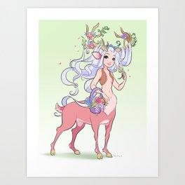 Stag priestess Art Print