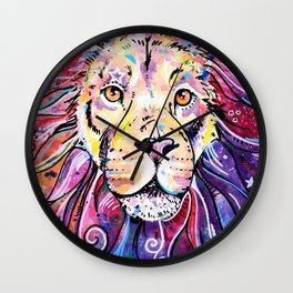 The Chief - Lion painting Wall Clock