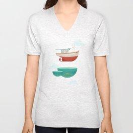 Floating Boat Unisex V-Neck