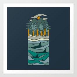 Orca Sound Art Print