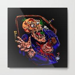 Vampire zombie  cartoon illustration Metal Print